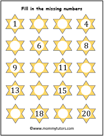 fill in missing numbers