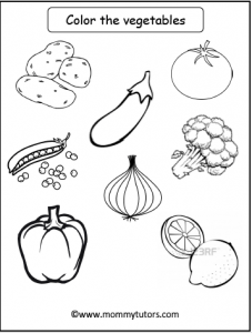 color the vegetables
