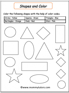 shapes color by code