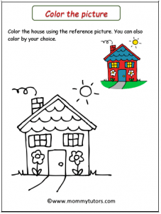 color the house