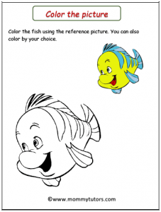 color the fish