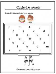 circle the vowels