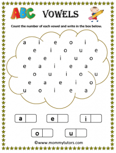 count the number of vowels