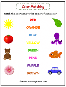 match color with correct picture