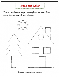 trace and color the picture