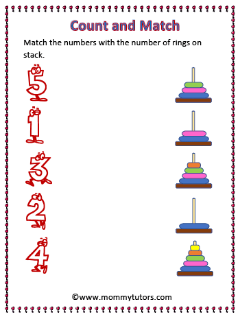 counting using stack - Preschool