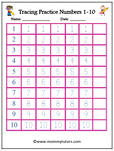 Tracing_Numbers_1_10