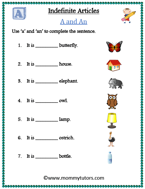 Indefinite Articles - A and An (2)